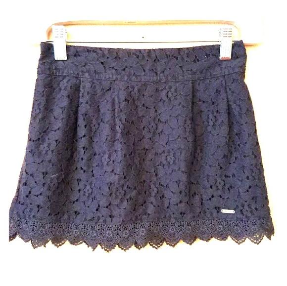 abercrombie kids Other - Host Pick! Abercrombie Kids Navy eyelet lace skirt